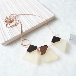 COS Rose Gold Geometric Glass Charms Necklace
